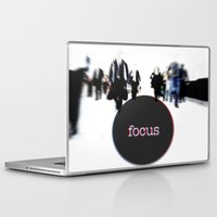 focus Laptop & iPad Skins featuring focus by cubik rubik