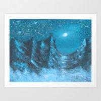 Icy Blue Dreamland Art Print