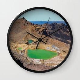 Mount Tongariro, New Zealand Travel Artwork Wall Clock