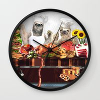 sloths Wall Clocks featuring Sloths by Big AL