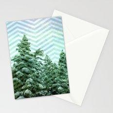 Snowy Chevron Stationery Cards