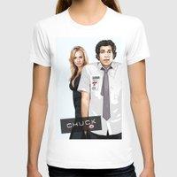 chuck T-shirts featuring Chuck Chuck by SyafSyaf