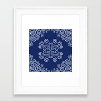 blueprint Framed Art Prints featuring Blueprint by Hind686