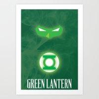 green lantern Art Prints featuring Green Lantern by Gari Smith