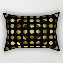 Golden moons dark circles Rectangular Pillow