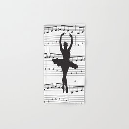 ballerina art, music Notes , girls nursery art, ballerina décor , girls nursery art , Hand & Bath Towel