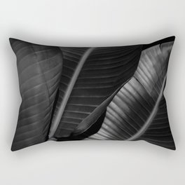 Banana leaf allure - night Rectangular Pillow