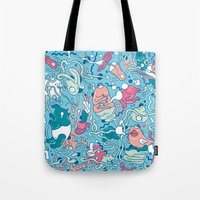 bubble Tote Bags featuring bubble by Anukun Hamala (NHD)