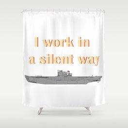 German Submarine Silent Introvert Shower Curtain