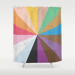Rainbow Wheel of Inclusivity Shower Curtain