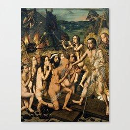 Descent of Christ into Limbo by Bartolome Bermejo, 1475 Canvas Print