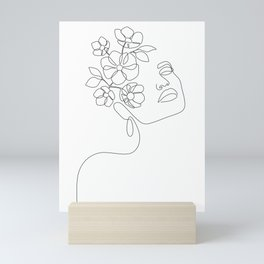Dreamy Girl Bloom Mini Art Print