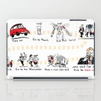 shaun of the dead iPad Cases featuring Shaun of the Dead by Rob O'Connor