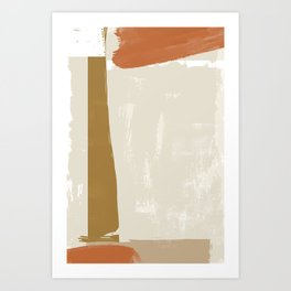 Abstract Color Construction II Art Print