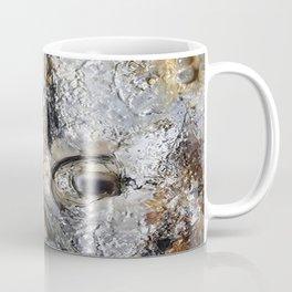 Metallic Melodrama II - Mixed Media Beeswax Encaustic Acrylic Abstract Modern Fine Art, 2015 Coffee Mug