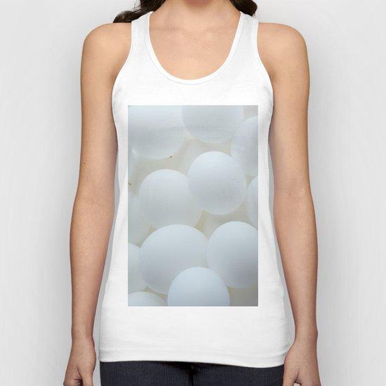 white balloons Unisex Tank Top