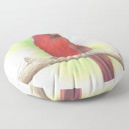 Cardinal Bird Floor Pillow