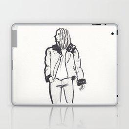 Moto Jacket Girl Laptop & iPad Skin