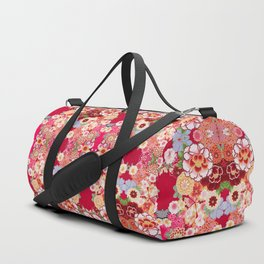 Red Floral Burst Duffle Bag