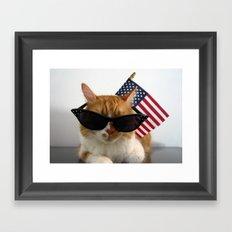PAWSitively Patriotic Framed Art Print