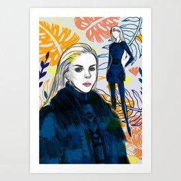Fashion Illustration 4 High Fashion Girl Art Print