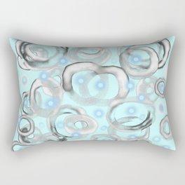 White Bubble 01 Rectangular Pillow