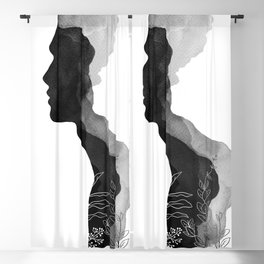 Him, Couples Art, His and Her Decor Blackout Curtain
