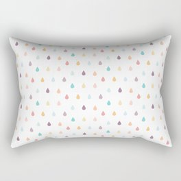 colorful rain Rectangular Pillow