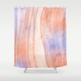 Agate Stone Glitter Rose Gold X Shower Curtain