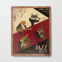 Animals Jazz Metal Print