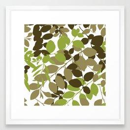skinny leaf Framed Art Print