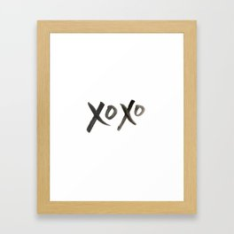 Watercolor xoxo Framed Art Print
