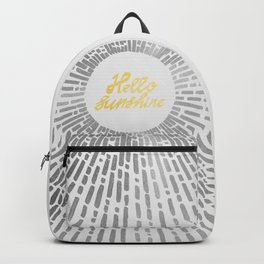 Hello Sunshine Silver Backpack