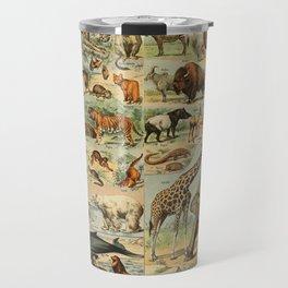 Adolphe Millot - Nouveau Larousse Illustré - Mammifères A (Mammals) (1906) Travel Mug