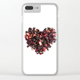 petals tea formed in heart shape Clear iPhone Case