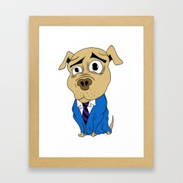 Worried Dog Framed Art Print