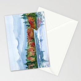 Mirror Lake in Autumn Stationery Cards