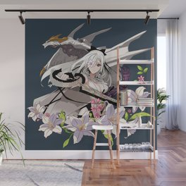 Lady and Dragon Wall Mural