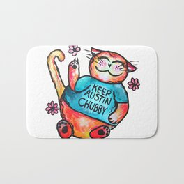Keep Austin Chubby Chubbycat Bath Mat