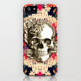 You are not here Day of the Dead Rose Skull. iPhone Case