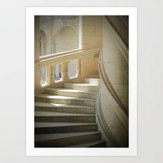Les Escaliers Art Print