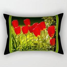 tulip impressions (square) Rectangular Pillow