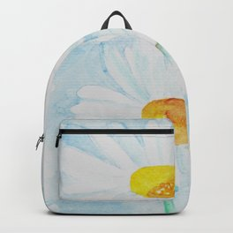 Watercolor Daisy Flowers - GraphicLoveShop Backpack
