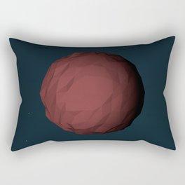 Planet Mars Low Poly Rectangular Pillow