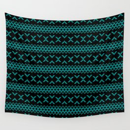 Traditional Romanian folk art knitted embroidery pattern Wall Tapestry