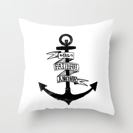 The Faithful Anchor Throw Pillow