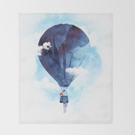 Bye Bye Balloon Throw Blanket