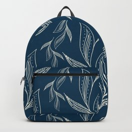 Indigo Foliage #society6 #pattern #indigo Backpack