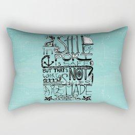 A Ship in Port Rectangular Pillow
