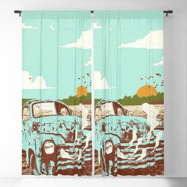 OLD TRUCK Blackout Curtain